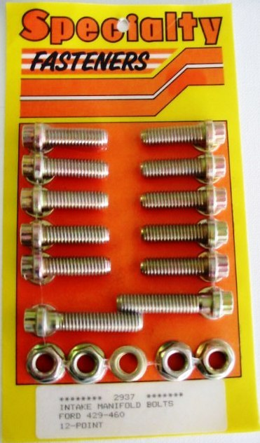 FORD 429-460 INTAKE BOLT SET 12 POINT
