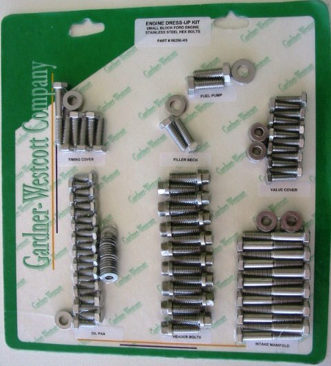FORD 289-302 STAINLESS STEEL ENGINE BOLT KIT