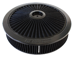 FULL FLOW BLACK AIR FILTER ASSEMBLY 14'' X 3''