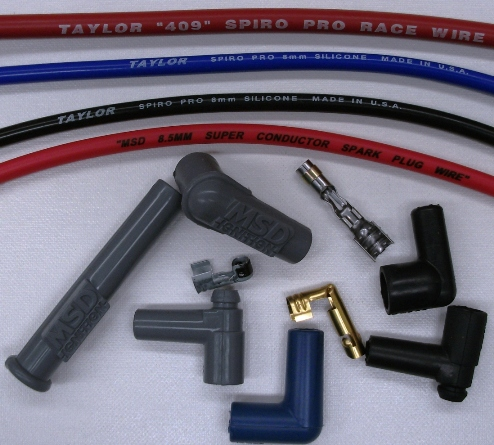 MSD &TAYLOR IGNITION WIRE, TERMINALS AND BOOTS