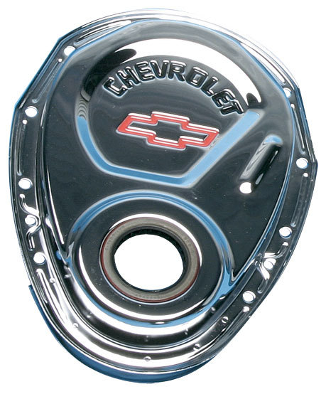 S/B CHEV CHROME TIMING CHAIN COVER