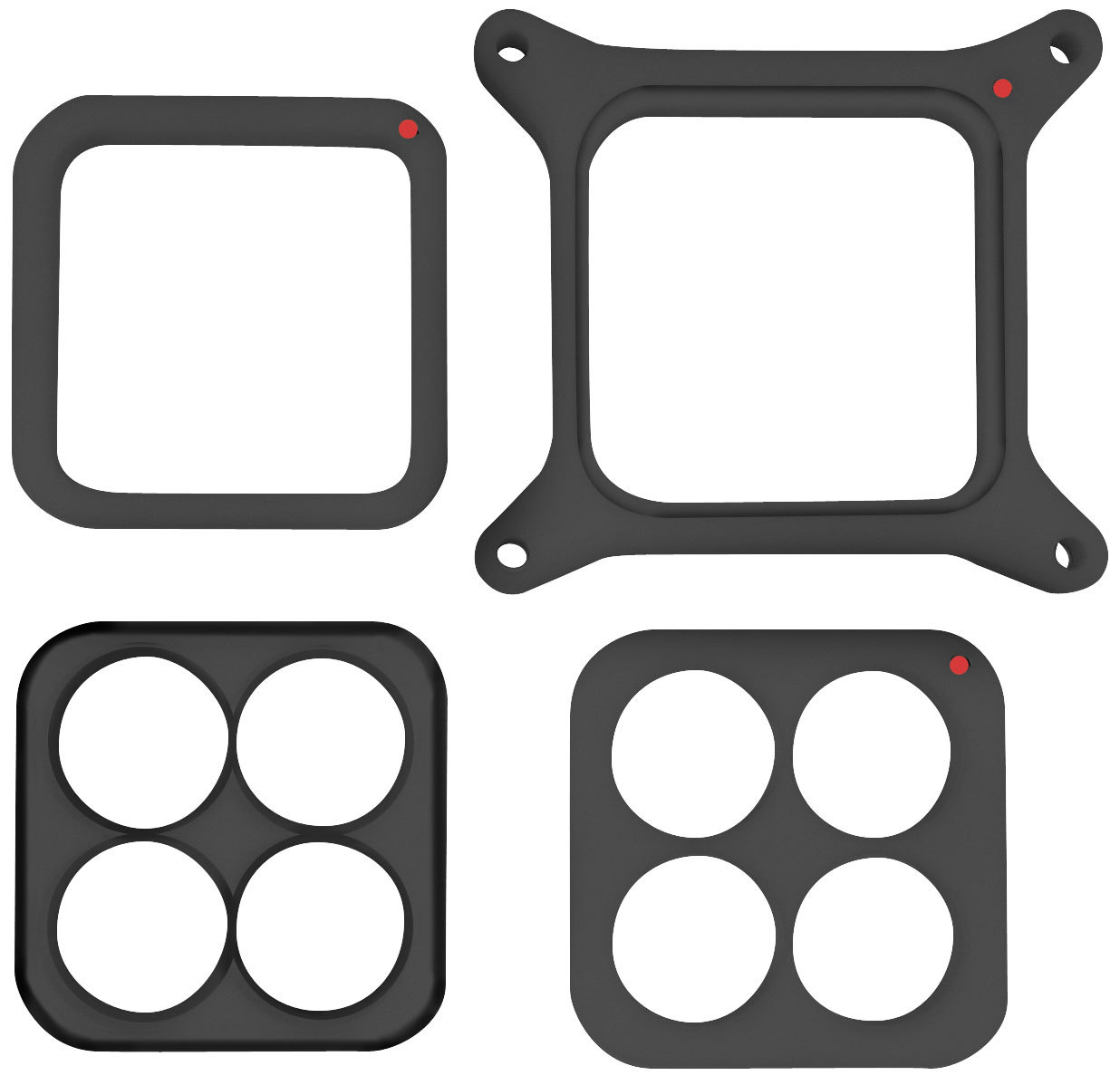 "PHENOLIC 1"" CARB SPACER 4 PIECE SET"
