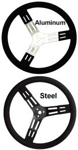 17'' ALUMINUM STEERING WHEEL