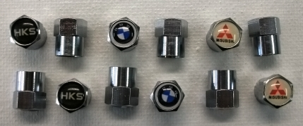 CHROME PLATED VALVE STEM CAPS